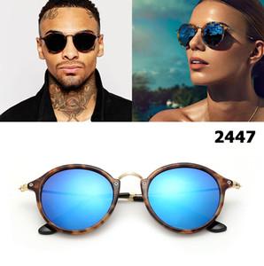 Nuovo 2018 Classic Fashion Vinatge Occhiali da sole rotondi stile donne degli uomini di disegno di marca di vetro di Sun Oculos De Sol Occhiali