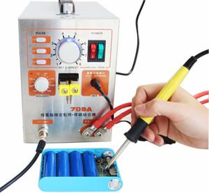 709A 1500 Вт точечной сварки паяльная станция сварочный аппарат + универсальный сварочная ручка для телефона ноутбук 18650 литиевая батарея