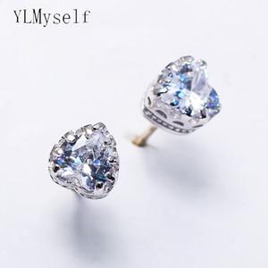 925 silberne nette Ohrringe 6mm Herz-Design Schmuck romantischer Geschenkschmuck schöner kleiner Bolzensilberohrring