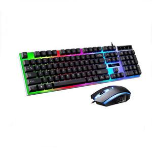 USB проводная подсветка клавиатуры и мыши комбо подвески ключи и оптические радужные огни игровой клавиатуры для настольного ноутбука 2 шт G21