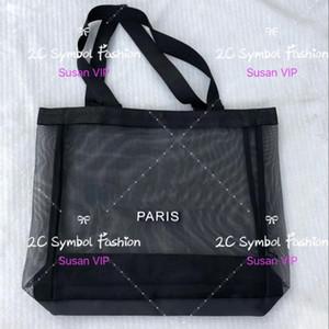 كبيرة الحجم الكلاسيكية الأبيض الفاخرة إلكتروني ماركة شبكة التسوق حقيبة نمط الفاخرة حقيبة سفر المرأة غسل حقيبة مستحضرات التجميل تخزين شبكة حالة