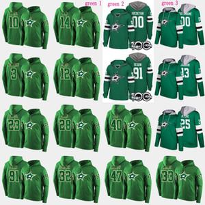 Dallas Stars Hoodies 100 번째 패치 3 John Klingberg 12 Radek Faksa 14 Jamie Benn 33 Marc Methot 91 타일러 Seguin Custom Hockey Jerseys
