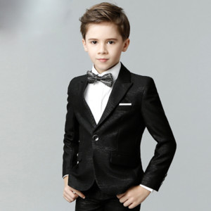 cute boys suits gentleman style performance formal solid clothes for 3-12 years kids children party dinner clothes