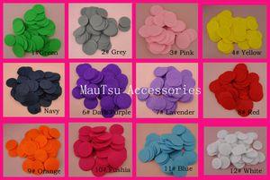 500 PCS 4.0 cm cores sortidas rodada feltro apliques para DIY ornamentos de jóias de flores, 1.5 polegadas não-tecidos círculos patches
