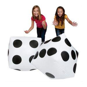 2 pçs / lote cubos infláveis dot dice piscina brinquedos de água de praia festa de fornecimento de atividades ao ar livre crianças crianças piscina acessórios