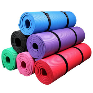 All-Purpose 0.4Inch Etra Thick High Density Eco Friendly NBR Non-Slip Eercise Yoga Mat with Carrying Strap for Fitness Workout