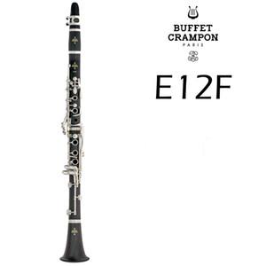 Hot vente Buffet Crampon E12F 17 Clés clarinette Sib Haute Qualité Bois bakélite Tube B Flat Instruments de musique Clarinette avec étui