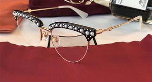럭셔리 0213 여성용 여성용 브랜드 디자이너 인기 상품 0213O 중공 성형 광학 렌즈 고양이 눈 풀 프레임 블랙 핑크 빙 빙 카드 케이스 포함