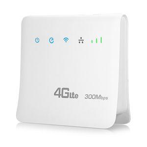 Kinle 4G LTE CPE Router WiFi móvil para tarjeta SIM 300Mbps Soporte 3G Marvell 1802 MTK7628 para tarjeta SIM Wi-Fi 802.11b / g / n Soporte 3G Marvell