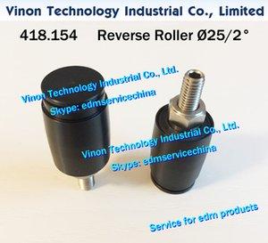418.154 edm Reverse Roller Ø25mm / 2 ° A520 Cable de polea recogido 25mm-2dg. para Agie AC150, AC170, AC370 wirecut edm 418.154.1 AGIE edm piezas de desgaste
