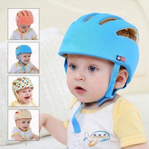 Регулируемые младенческой безопасности шлем защитные анти-пена Baby Hat малыша шлемы для ползать ходьба Headguard Protector Cap