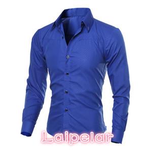 5XL Plus Size Brand-clothing algodón para hombres ropa Solid Soft hombres camisa de manga larga para hombre camisas Casual Slim Fit venta caliente Laipelar