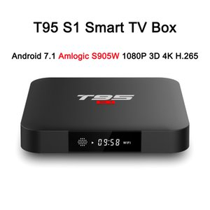 T95 S1 Android 7.1 TV BOX 2 Go de RAM 16 Go ROM Amlogic S905W Quad Core 2,4 GHz WiFi pour Smart TV