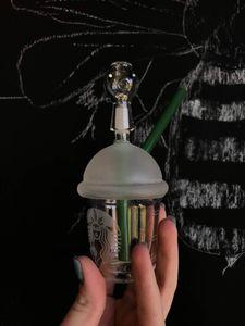 starbuck bongs 10mm conjunto mini Starbucks Cup bongs de vidrio con chorro de arena pipas de vidrio para fumar plataformas petroleras bongs de agua de vidrio y narguile de uñas