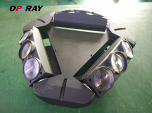 Garanzia di quanlity OPPRAY 9PCS spider fascio di luce 9 * 12W 4in1 rgbw LED moving head light 180W di consumo per KTV wedding BAR culb praty