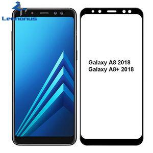 Proteggi Schermo in vetro temperato ad arco 2.5D per Samsung Galaxy A8 2018 Copri schermo pieno in vetro temperato per Galaxy A8 Plus A8 + 2018