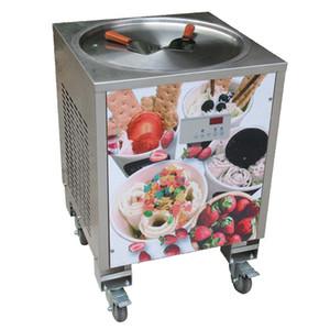 Ücretsiz Gönderi Tek Yuvarlak 50 cm Pan Thai Dondurma Makinesi Fry Dondurma Rulo Makinesi Otomatik Defrost, Akıllı Sıcaklık PCB. kontrolör