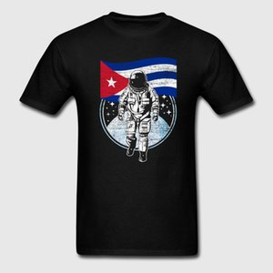 유머 티셔츠 남성용 여름 우주 비행사 Moon Cuba T-Shirts 힙합 Leer Camiseta 통기성 빅 사이즈 XXXL