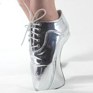 Kadın 2018 Ultra Yüksek Topuklar Yenilik Seksi Elastik bant Ayak Bileği Çizmeler Kısa Cosplay Sivri Burun Ayak Topuk Heelless B ...