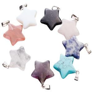 Encantos Hot pedra natural de forma Pentagonal contas de moda colar de pingente para fazer jóias brinco atacado direto da fábrica livre