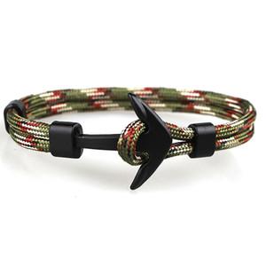 Beliebte Entwurfs-handgemachter Männer und die Frauen Paracord Anker Armband multi Farben gesponnenes Armband für Großverkauf 1 PCS