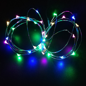 Botão LED de bateria de fadas de corda luzes ao ar livre coberta Salão de festas do casamento da árvore de Natal decoração da parede Início navio decoração queda