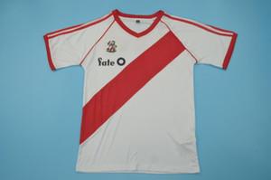 1986 River Plate Heimtrikots Caniggia Norberto Alonso Rugby-Trikots Größe S-XXL