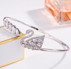 패션 매력 팔찌 동물 여성 럭셔리 체인 핸드 골드 다이아몬드 브랜드 디자이너 여성 SWA 쥬얼리 목걸이 온라인 온라인
