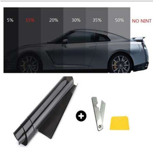 Fenêtre de voiture film de teinte rouleau 15% VLT auto film de teinture de verre pour tuyau voiture de bureau parasol résidentiel commercial 50 * 300 cm