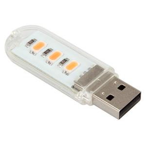 Grânulos do diodo emissor de luz de 5V 1.5W 3 x 2835 Luz pequena da noite do USB com luz morna / luz branca EGS_329