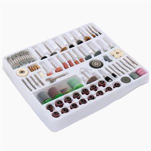 Freeshipping Mais Novo 216 Pçs / lote Mini Rotary Tool Kit de Acessórios de Lixa de Polimento Equipamentos Para Broca Dremel Moagem De Polimento De Corte