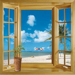 جديد وصول 3d نافذة مشهد جميل البحر شاطئ عرض الجدار ملصق وهمية نافذة الجدار ملصق ديكور المشارك