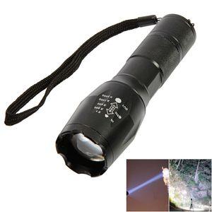 Vente chaude Noir seul feu Q5 XML Cree / T6 / L2 Torches 5000Lm LED d'alimentation ACopie à haute zoomables LED tactique Lampes de poche Lanterne Lumière FLA1
