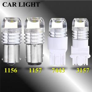 10X 7443 3157 1157 ba15d tour lampe de signalisation de frein de voiture lumière LED blanche 1156 Clignotant arrière 5630SMD lampe led