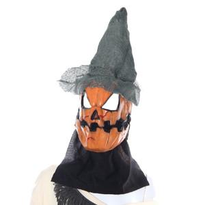 Yeduo Halloween Masque Épouvantail Citrouille Effrayant Latex Réaliste Fou En Caoutchouc Super Effrayant Parti Halloween Costume Masque