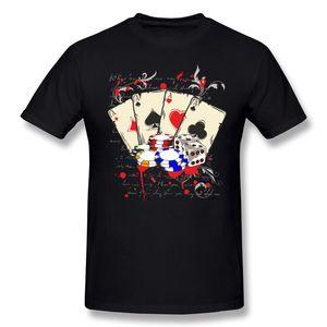 Горячие продать мужские 100% хлопок игра казино футболка мужская O-образным вырезом фиолетовый шорты рукав одежда плюс размер Brithday Майка
