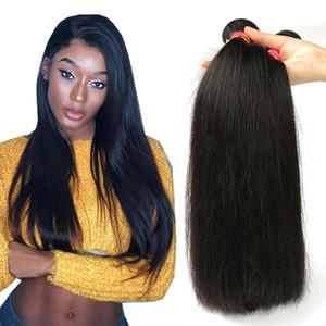 Индийский волос девственницы Straight Оптовых индийские бразильские прямых волосы Плетение Связка НЕОБРАБОТАННОЙ индийскую Straight Дева человеческих волосы