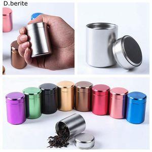 1 unids Nuevo Pequeño Metal De Aluminio Sellado Portátil de Viaje Carrito A Prueba de Olor A Prueba de Contenedores Stash Jar LWW9027