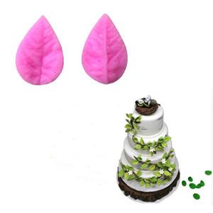 리프 프레스 금형 실리콘 금형 케이크 장식 퐁당 케이크 3D 식품 학년 실리콘 금형 초콜릿 쿠키 비누 몰드