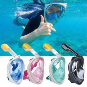 Nova Máscara de Mergulho Subaquático Conjunto de Snorkel Verão Treinamento de Natação Mergulho scuba mergulho rosto cheio máscara anti Nevoeiro Nenhuma Câmera
