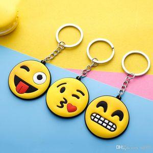 Desenhos animados Emoji PVC Keychain Adorável Face Única Chaves Anel macios bonitos Chaves Fivela Para Car saco pendurado encantos 0 5mK ZZ