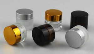 20g cam konteyner için stash kavanoz e çiğ balmumu kozmetik krem temizle amber buzlu siyah gümüş altın kapaklı özel ile temizle