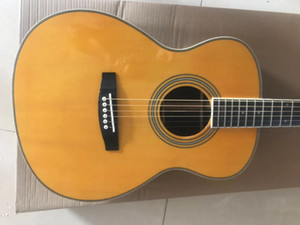 Solid Spruce Top 41 Inches Natural Vintage Acoustic Electric Guitar, John Mayer Signagure Fingerboard Inlay, Grover Tuners, Bone Nut