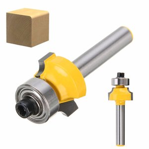 """Cocosoly 1pc Round Over Edging Router Bit 1/4 """"Shank 1/8"""" Radius Carbide Woodworking Cutter Tool"""