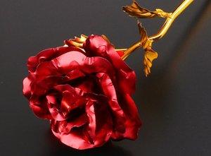5 colori 24k Gold Foil placcato festa di nozze Rose Proporre decorazione dorata della Rosa Fiore Decor flores para artificiales decoracion