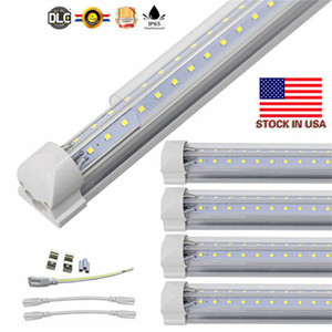 V-Shaped 2ft 3ft 4ft 5ft 6ft Led Tubes T8 Integrated 8ft Led Tubes Double Sides SMD2835 Led Shop Lights Stock In US