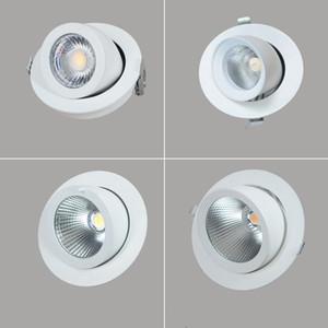 10W / 20W / 30W / 40W LED da incasso Downlight COB da soffitto AC85-265V Da incasso orientabile Super Bright Indoor Light cob led da incasso