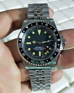 BP Factory Luxury Watch de alta calidad Vintage GMT Sapphire Asia 2813 Movemen mecánico automático Mens Watche