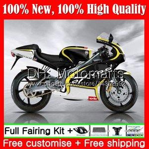 Karosserie für Aprilia gelb schwarz RS4 RS125 99 00 01 02 03 04 05 RS-125 4MT3 RSV125 RS 125 1999 2000 2001 2002 2003 2005 Verkleidung Karosserie