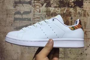adidas Smith  DHL Descuento de alta calidad zapatos de las mujeres de primera clase de los hombres nuevos zapatos de Stan moda Smith zapatillas de deporte de cuero casual zapatos blancos van